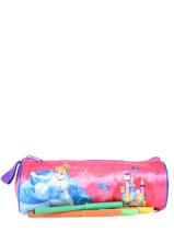 Pennenzak 1 Compartiment Disney Veelkleurig princess AST4917-vue-porte