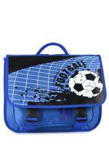 Boekentas Miniprix Blauw football 1802B