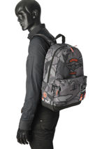 Rugzak 1 Compartiment Superdry Grijs backpack men M91005JR-vue-porte