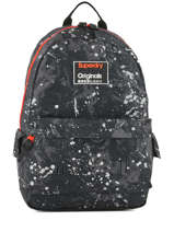 Rugzak 1 Compartiment Superdry Zwart backpack men M91004MR