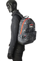 Rugzak 1 Compartiment Superdry Zwart backpack men M91004MR-vue-porte