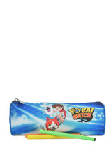 Pennenzak 1 Compartiment Yokai watch Blauw attack YOKEI01-vue-porte