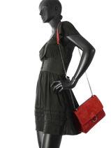 Cross Body Tas Velvet Milano Rood velvet VE180602-vue-porte