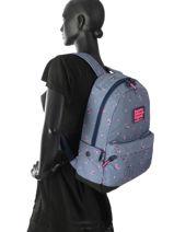 Rugzak 1 Compartiment Superdry Blauw backpack woomen G91007JR-vue-porte