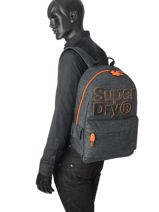 Rugzak 1 Compartiment Superdry Grijs backpack men M91000MR-vue-porte