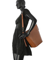 Bucket Bag Duffle Leder Coach Bruin duffle 29257-vue-porte