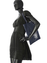 Shoppingtas Flat Bag Woomen Blauw flat bag WFLAT01-vue-porte