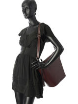Bucket Bag Duffle Leder Coach Rood duffle 29257-vue-porte