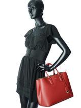 Handtas Dryden Leder Lauren ralph lauren Rood dryden 31697680-vue-porte