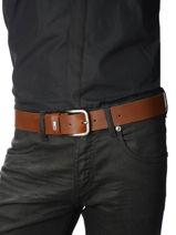 Herenriem Tommy Logo Leder Tommy hilfiger Bruin belt AM02794-vue-porte