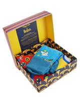 Cadeauset Sokken Happy socks Oranje pack XBEA08