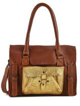 Shoppingtas Vintage Leder Paul marius Bruin vintage RIVGAU-M