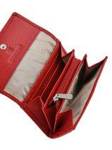 Portemonnee Leder Hexagona Rood toucher 627443-vue-porte