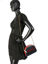 Cross Body Tas Cool Leather Xover Leder Tommy hilfiger Blauw cool leather xover AW06396-vue-porte
