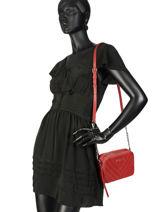 Cross Body Tas Parisienne Couture Leder Lancaster Rood parisienne couture 571-68-vue-porte