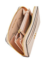 Portemonnee Leder Michael kors Roze money pieces T8GF6Z1L-vue-porte