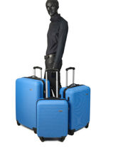 Set Reiskoffers Madrid Travel Blauw madrid 1701-LOT-vue-porte