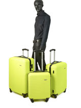 Set Reiskoffers Madrid Travel Geel madrid 1701-LOT-vue-porte