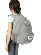 Rugzak 2 Compartimenten Roxy Grijs backpack RJBP3889-vue-porte