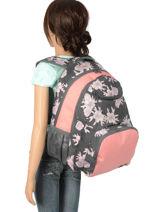 Rugzak 2 Compartimenten Roxy Zwart backpack RJBP3884-vue-porte