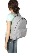 Rugzak 1 Compartiment Roxy Grijs backpack RJBP3836-vue-porte