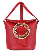 Bucket Bag Parisienne Gloria Leder Lancaster Rood parisienne gloria 432-21