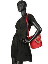 Bucket Bag Parisienne Gloria Leder Lancaster Rood parisienne gloria 432-21-vue-porte