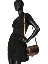 Cross Body Tas Vintage Leder Paul marius Beige vintage BOHEMIEN-vue-porte