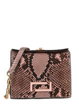 Mini Cross Body Tas Pia Python Lancel Zwart pia A09993