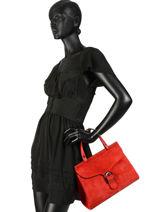 Handtas Velvet Leder Milano Rood velvet VE180601-vue-porte
