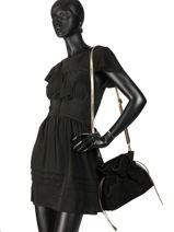 Cross Body Tas Velvet Leder Milano Zwart velvet VE31731-vue-porte