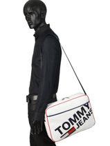 Messenger Tas Tommy Jeans Tommy hilfiger Wit tjm modern AM04413-vue-porte