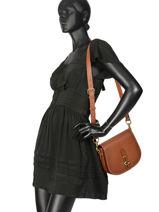 Cross Body Tas Saddle Bag Leder Coach Bruin saddle bag 54202-vue-porte
