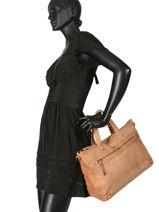 Shoppingtas Beth Leder Pieces Bruin beth 17093709-vue-porte