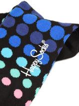 Sokken Happy socks Zwart faded disco FDD01-vue-porte