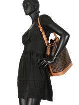 Preloved Louis Vuitton Bucket Bag Noe Gm Monogram Brand connection Bruin louis vuitton 152C-vue-porte