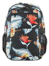 Rugzak 3 Compartimenten Roxy Zwart backpack RJBP3846