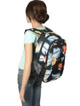 Rugzak 3 Compartimenten Roxy Zwart backpack RJBP3846-vue-porte
