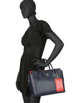Handtas Charming Tommy Tommy hilfiger Blauw charming tommy AW06463-vue-porte