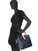 Handtas My Tommy Tommy hilfiger Blauw my tommy AW06620-vue-porte