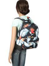 Rugzak 1 Compartiment Roxy Zwart backpack RJBP3837-vue-porte