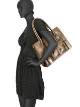 Shoppingtas Vintage Leder Paul marius Beige vintage RIVGAU-M-vue-porte