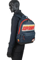 Rugzak 1 Compartiment Superdry Zwart backpack men M91024MT-vue-porte