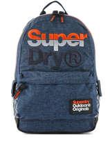 Rugzak 1 Compartiment Superdry Blauw backpack men M91016MT