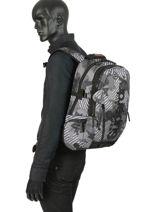 Rugzak 2 Compartimenten Superdry Grijs backpack men M91007MT-vue-porte
