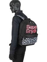 Rugzak 1 Compartiment Superdry Zwart backpack woomen G91110MT-vue-porte