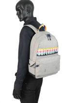 Rugzak 1 Compartiment Superdry Grijs backpack men G91013JR-vue-porte