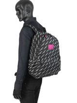 Rugzak 1 Compartiment Superdry Zwart backpack woomen G91007JR-vue-porte