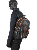 Rugzak 2 Compartimenten Superdry Zwart backpack men M91011JT-vue-porte