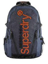 Rugzak 2 Compartimenten Superdry Blauw backpack men M91015MT